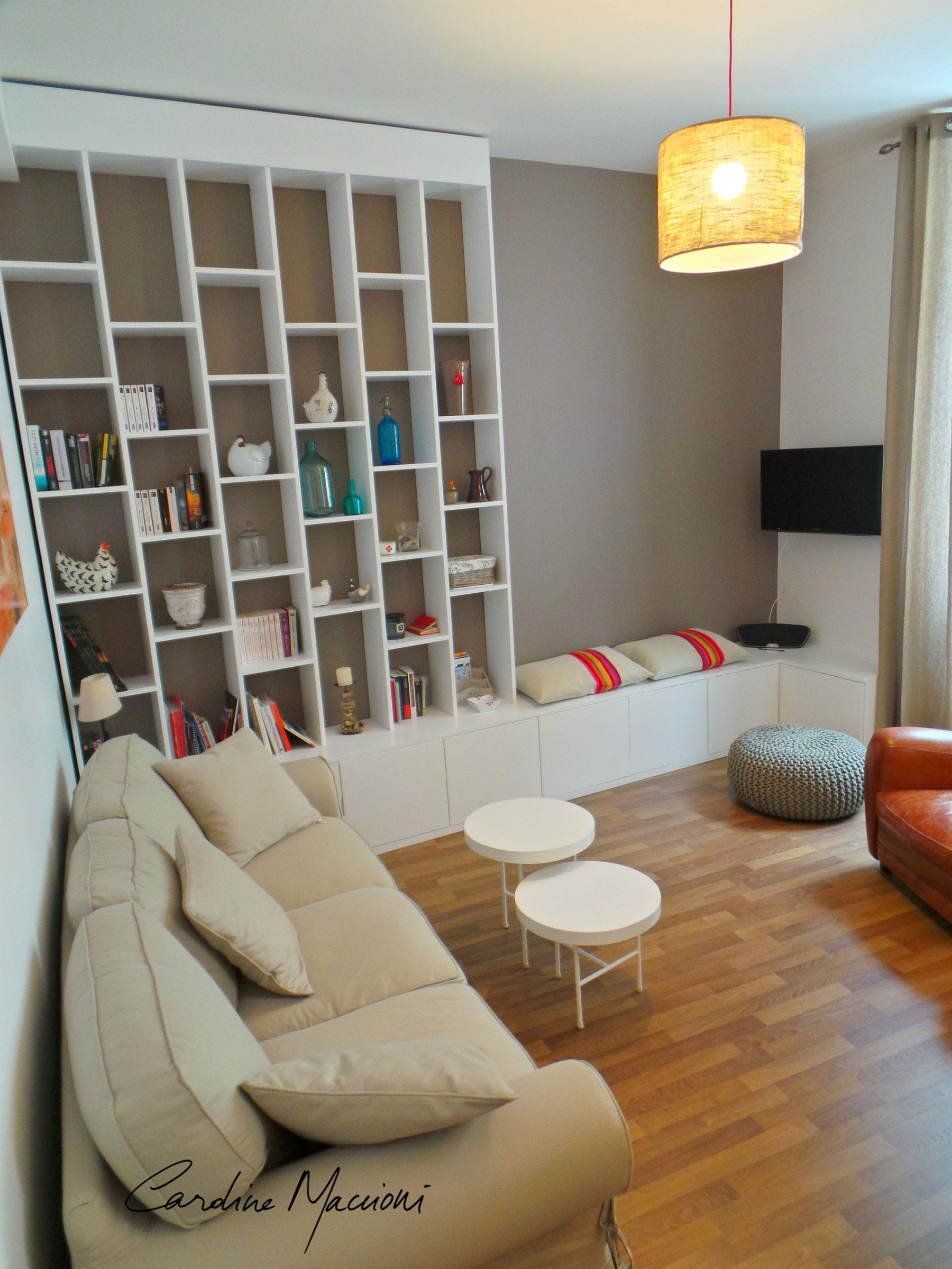 Décoration d'intérieur et aménagement complet appartement Biarritz chic citadin accueillant vacances famille Côte Basque 64