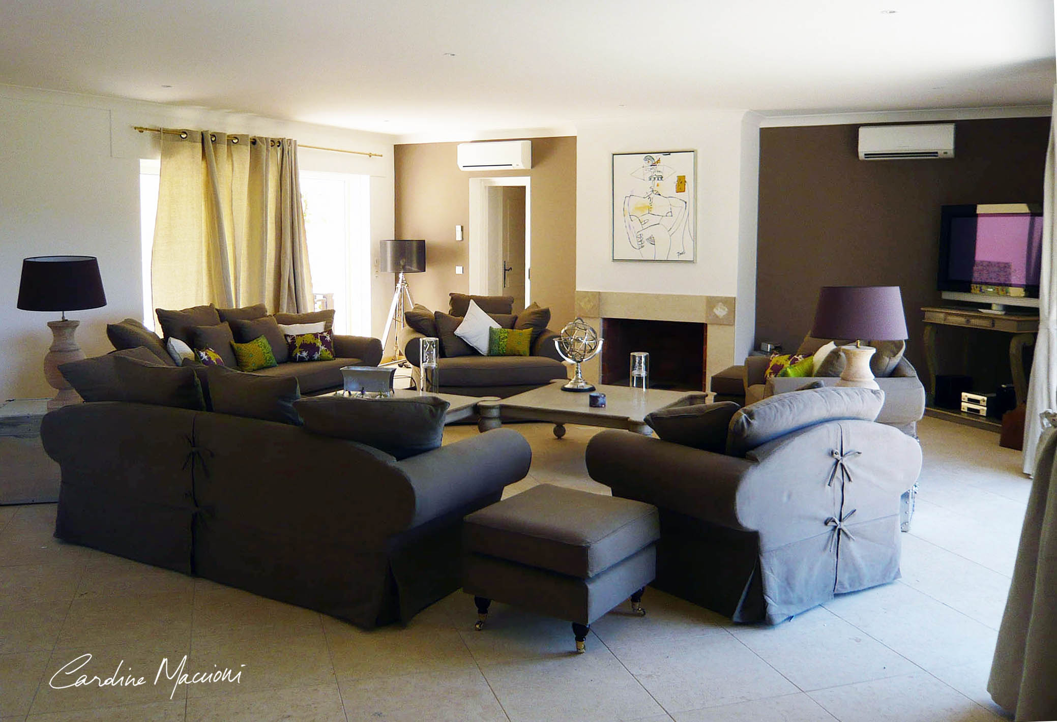 Décoration d'intérieur et design produit Villa de luxe Plan de la tour Hauts de Saint Tropez (83)