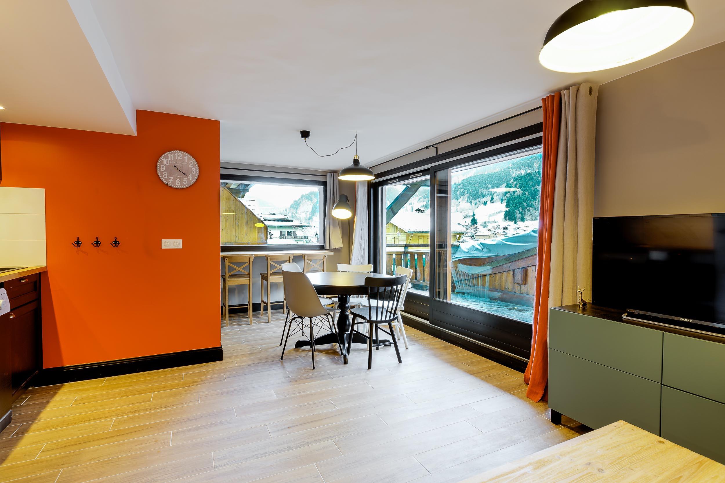 r novation compl te d 39 un appartement t2 au coeur de la station les contamines montjoie en haute. Black Bedroom Furniture Sets. Home Design Ideas